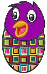 Purple Chick embroidery design