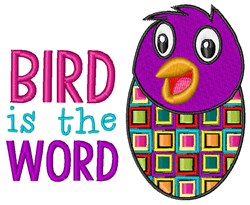 Bird Is Word embroidery design