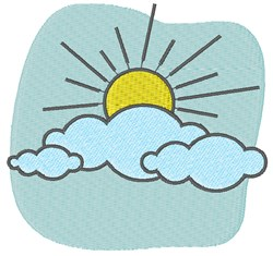 Sun In Clouds embroidery design
