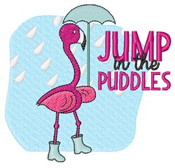Jump In Puddles embroidery design