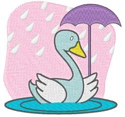 Rain Swan embroidery design