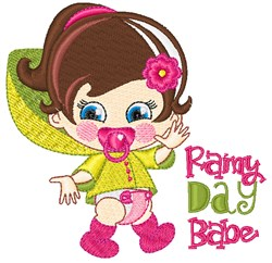 Rainy Day Babe embroidery design