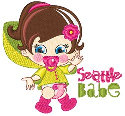 Seattle Babe embroidery design