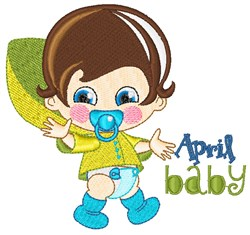 April Baby embroidery design