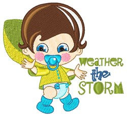 Weather The Storm embroidery design