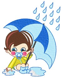 Rain Boy embroidery design
