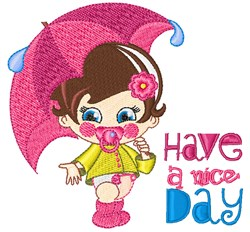 A Nice Day embroidery design