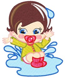 Puddle Boy embroidery design