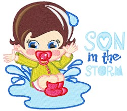Son In The Storm embroidery design