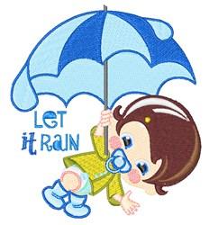 Let It Rain embroidery design