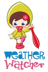 Weather Watcher embroidery design