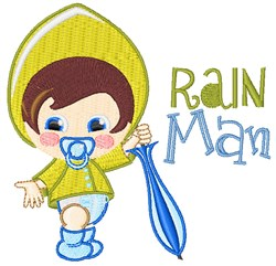 Rain Man embroidery design
