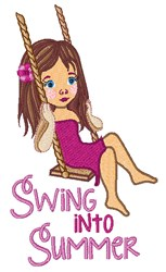 Swing Into Summer embroidery design