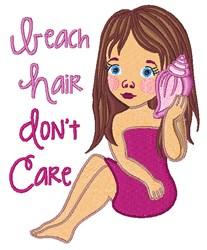 Beach Hair embroidery design