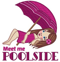 Meet Me Poolside embroidery design