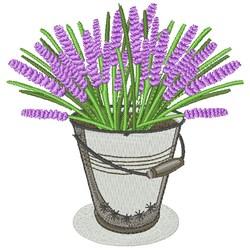 Lavender Bucket embroidery design