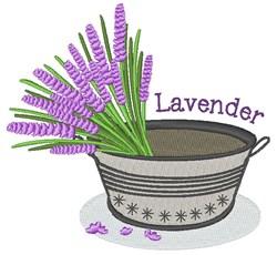 Lavender embroidery design