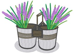 Lavender Buckets embroidery design