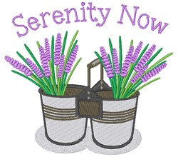 Serenity Now embroidery design