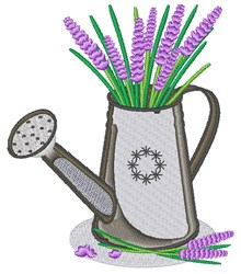 Lavender Water Can embroidery design