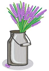 Lavender Pail embroidery design