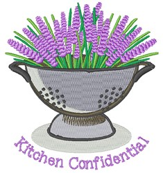 Kitchen Confidential embroidery design