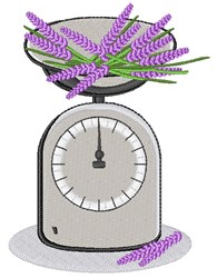 Lavender Scale embroidery design