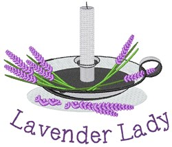 Lavender Lady embroidery design