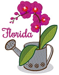 Florida Orchid embroidery design