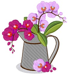 Orchid Pitcher embroidery design