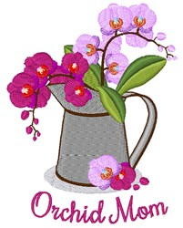 Orchid Mom embroidery design
