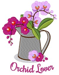 Orchid Lover embroidery design