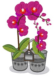 Orchid Plants embroidery design