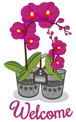 Welcome Orchidd embroidery design