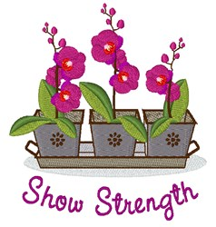 Show Strength embroidery design