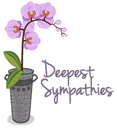 Deepest Sympathies embroidery design