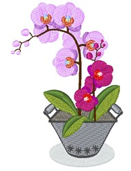 Orchid Blooms embroidery design