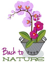 Back To Nature embroidery design