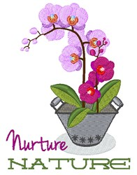 Nuture Nature embroidery design