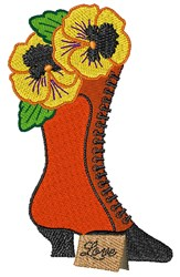 Pansy Boot embroidery design