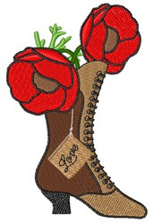 Poppy Boot embroidery design