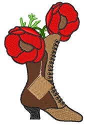 Poppy Antique Boot embroidery design