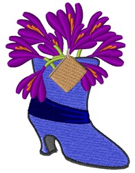 Crocus Boot embroidery design