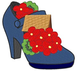 Flower Shoe embroidery design