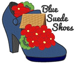 Blue Suede Shoes embroidery design
