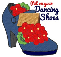 Dancing Shoes embroidery design