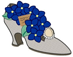 Flower Heel embroidery design