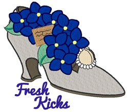 Fresh Kicks embroidery design
