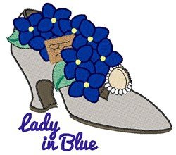 Lady In Blue embroidery design