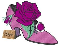 Rose High Heel embroidery design